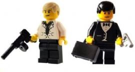 007 James Bond & Enemy Raul Silva - Custom Desiged Minifigures